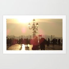 Venice at Sunrise and Costumes Art Print