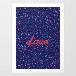 Love Particles Art Print