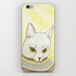 SWEATER AND ALSO CAT iPhone Skin