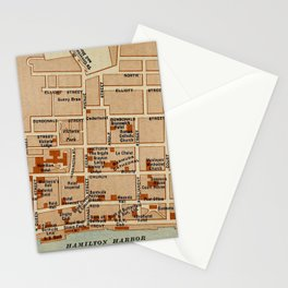 Vintage Map of Hamilton Bermuda (1922) Stationery Cards
