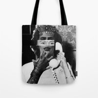 rocky horror Tote Bags featuring Rocky Horror Queen by Marko Köppe