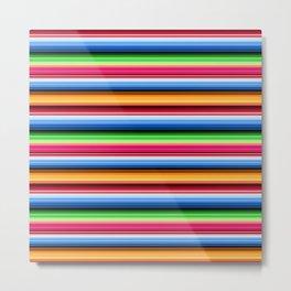 Mexican Serape Stripes Metal Print