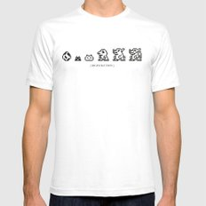 DIGIVOLUTION SMALL Mens Fitted Tee White