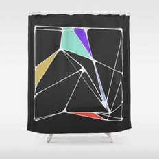 Voronoi Angles Shower Curtain