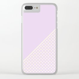 Heartless 2 - Lavender + White/ Yellow Clear iPhone Case