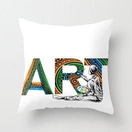 Eat Sleep Art Repeat Artist I arted Art Teacher Throw Pillow