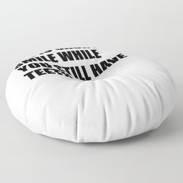 cynic gift for ironic misanthrope Floor Pillow