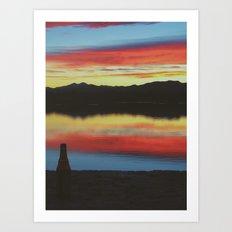 Colorado Skies and Drinks Art Print
