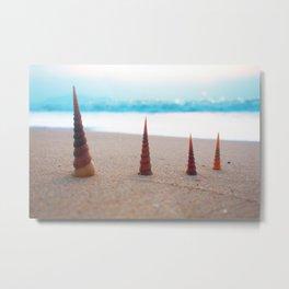 4 Pagodas Metal Print