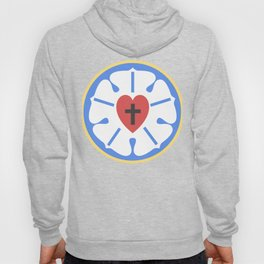 Simple Martin Luther Rose | Lutheran Design Hoody
