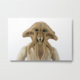 Squid Head Metal Print