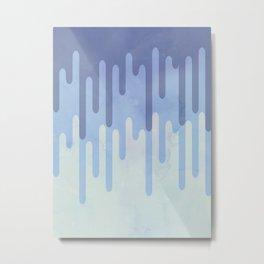 Melting blue Metal Print