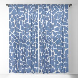 African American Masterpiece by Alma Thomas, Elysian Fields Sheer Curtain
