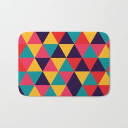 Colorful Triangles (Bright Colors) Bath Mat