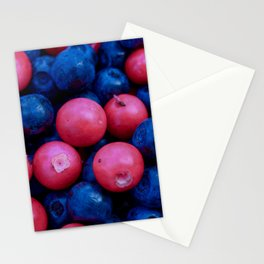 Forest Berries background Stationery Cards