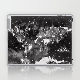 world map galaxy black and white Laptop & iPad Skin