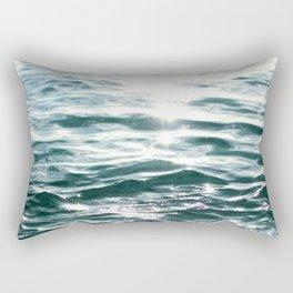 Crystal Sea // Horizontal Rectangular Pillow