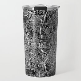 Madrid Black Map Travel Mug
