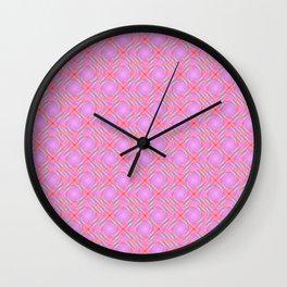 Pastel Broken Diamond Swirl Pattern Wall Clock