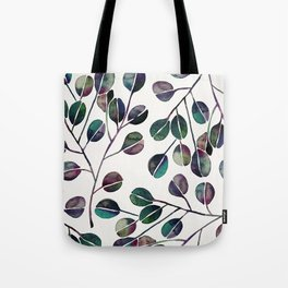 Silver Dollar Eucalyptus – Deep Cool Palette Tote Bag