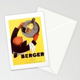 Vintage Berger 45 Wine Advert - Circa 1935 Stationery Cards