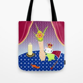 King of Wands on the Table Again Tote Bag