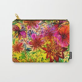 Tropical Hot Heat Flower Hibiscus Garden Carry-All Pouch