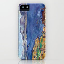 1885 - Paul Cezanne - The Bay of Marseilles, Seen from L'Estaque iPhone Case
