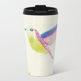 bird with flowers Metal Travel Mug