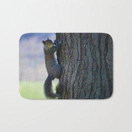 Squirrel climbing Bath Mat