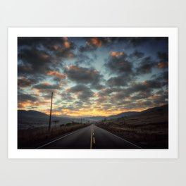 Road to Sunrise Art Print