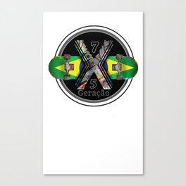 1975 Generation X Brazilian Skateboard Canvas Print