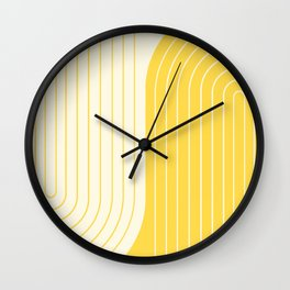 Two Tone Line Curvature V Wall Clock