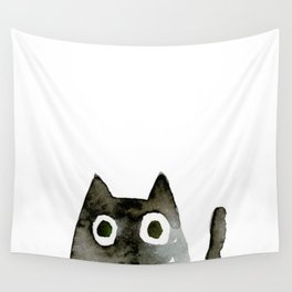 I Love Cats No.13 by Kathy Morton Stanion Wall Tapestry