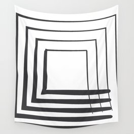 ABSTRACT ART Perspective | Square Wall Tapestry