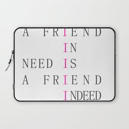 Quotes-friends Laptop Sleeve