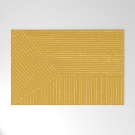 Lines (Mustard Yellow) Welcome Mat