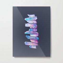 Ultraviolet Aura Crystals Metal Print