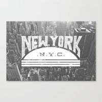 nyc Canvas Prints featuring NYC by Zeke Tucker