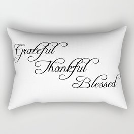 grateful thankful blessed Rectangular Pillow