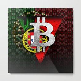 bitcoin Portugal Metal Print