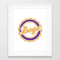doge Framed Art Prints featuring Doge by Tasha-Nova