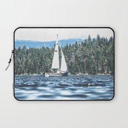 Calm Lake Sailboat Laptop Sleeve