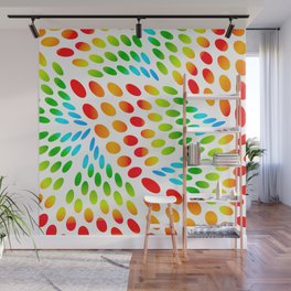 Colourful Ovals Wall Mural