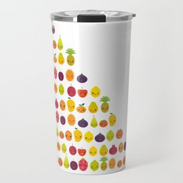 numbers for preschool kindergarten kids kawaii fruit from one to ten Travel Mug