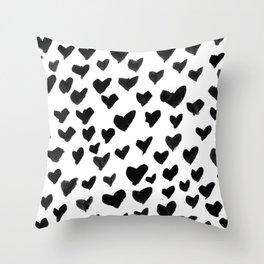 Shay & Moon - Hearts Throw Pillow