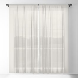 Sherwin Williams Trending Colors of 2019 Porcelain (Off White / Cream / Ivory) SW 0053 Solid Color Sheer Curtain