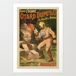 1910 Cognac Otard Dupuy Cornac Advertisement Poster Art Print