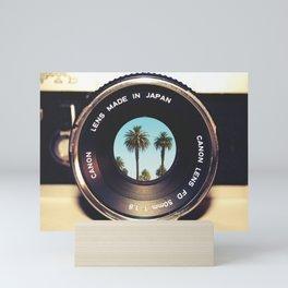 focus on palms Mini Art Print