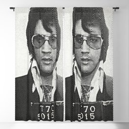 Elvis zigzag mugshot Blackout Curtain